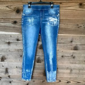 Justice Paint Shimmer Mid Rise Jegging 10 Plus